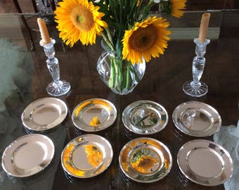 """8 Sterling/.925 Bread &Butter or Dessert Plates, Lord Saybrook H413-9 Pattern International Silver 6 1/4"""", 23.8 Troy Ounces American Silver"""