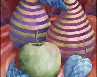 Pears still life on canvas pear art