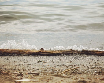 Driftwood Photo, Neutral Gray Landscape Photography, Coastal Cottage Lake House Decor, Beach Decor, Minimalist Zen Home Decor Wall Art