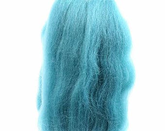 Wool roving by Wistyria Editions in Aqua .25 ounces