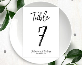 Table Numbers for Wedding-DIY Printable Calligraphy Hand Lettered Personalized Table Numbers-Handwritten Script Style Table Number Cards