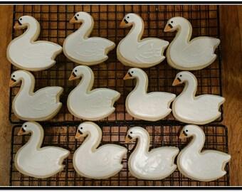 Swan Cut Out Sugar Cookies
