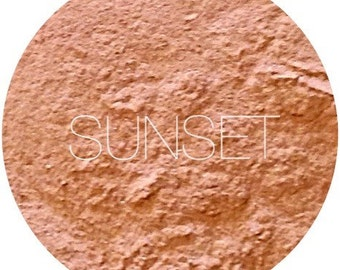 Sunset Mineral Blush • Mineral Makeup • Natural Vegan and Gluten Free Mineral Makeup • Earth Mineral Cosmetics