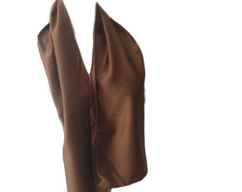 "Vintage Taupe Silk Scarf - 48"" x 8"""