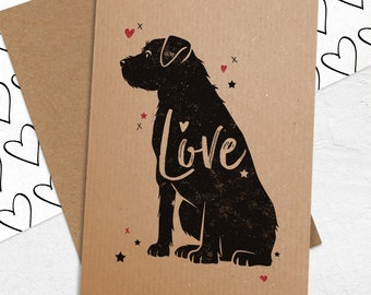 Love card with Border Terrier - Border Terrier Birthday Card