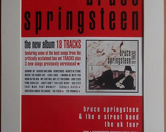 BRUCE SPRINGSTEEN The New Album 18 Tracks 1999 Original Vintage Music Press Advert In Mounted Presentation