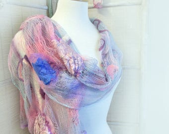 Large Pink Wrap - Large Cotton Scarf - Special Scarves