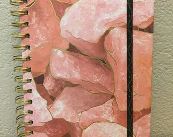 Gold lined stone journal