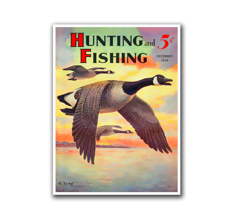 Vintage Duck Hunting Art Poster Sports Decor Art Retro Decor
