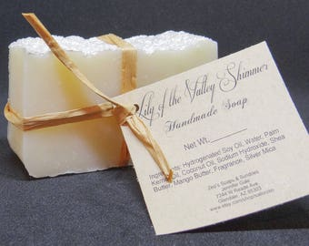 Lily of the Valley Shimmer Handmade Cold Process Soap