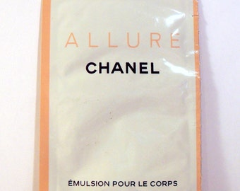 Vintage 1990s Allure by Chanel Body Lotion Sample Packet PERFUME