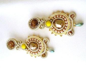 Long chandelier bridal earrings ,  daughter in law gifts earrings