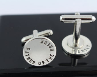 Secret Message Father of the Bride Cufflinks - Wedding Gift For Dad - Mens Cuff Links - Sterling Silver Cufflinks - Personalized Gift