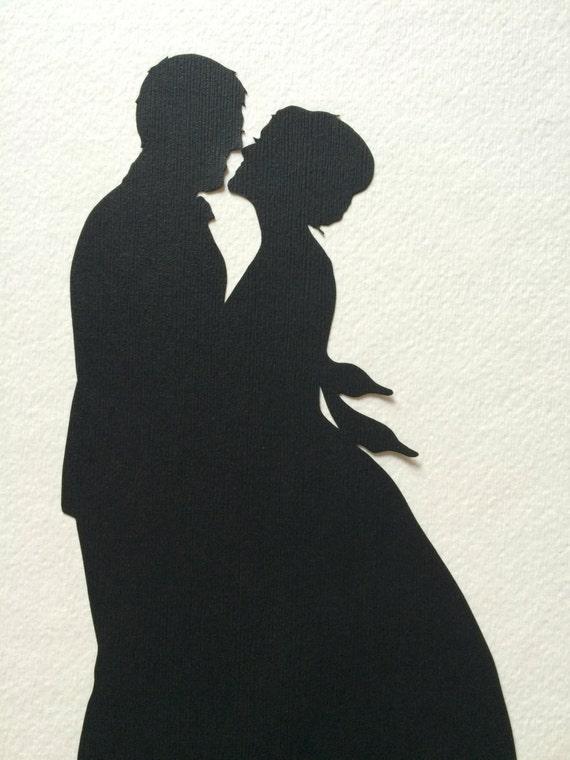 Custom cutouts wedding silhouette 8 by 10 wall art first like this item junglespirit Gallery