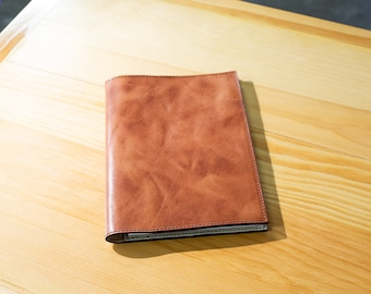 Journal Cover with Journal inside Journal Pad Leather journal Leather Notepad  Holder with pen loop Refillable Journal Cover