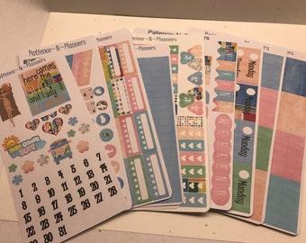 Retro-Modern Mix Kit, EC, Happy Planner, Personal Planner