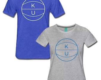 KU Basketball Shirt University of Kansas Jayhawks Tee Both Men's and Women's Styles