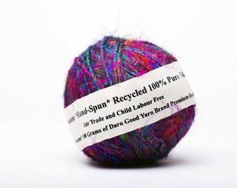 Sari Silk Handspun Yarn - The Original