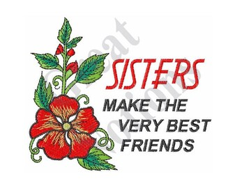 Sisters Best Friends - Machine Embroidery Design