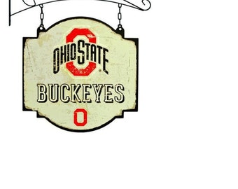 Ohio State Tavern Sign With Bracket