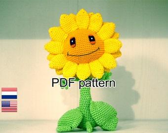 Crochet pattern Sunflower (Plants vs Zombies)