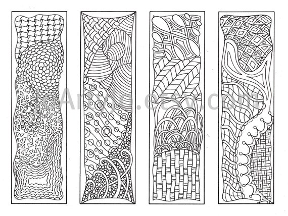 Bookmarks to color Zentangle Inspired