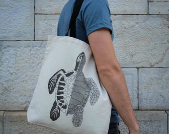 Anatomy of the Turtle || Tote Bag || 100% Recycled Cotton