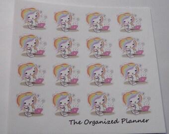 Working Unicorn Stickers / Cute Stickers / Planner Stickers