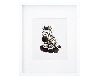 Baby Zebra Painting, Zebra Print, Zebra Nursery Art, Zebra Nursery Decor, Zebra Nursery Print, Black and White Nursery, Safari Animal Print