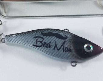 Mustachio Best Man Fishing Lure Gift