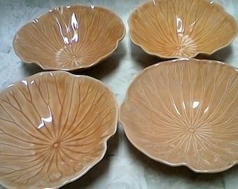 Vintage Lotus Poppytail #1279 bowls set of 4 Great Kitchen Gift.