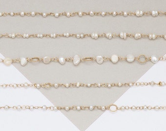 Freshwater Pearl Gold Anklet