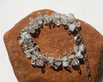 Moonstone Bracelet, Beach Wedding, Moonstone Jewelry, Wedding Bracelet, Beach Jewelry, Summer Jewelry, Beach Bracelet, Summer Bracelet, Moon