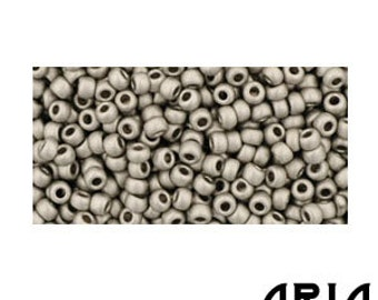 ANTIQUE SILVER MATTE (566): 11/o Toho Japanese Seed Beads (10 grams)