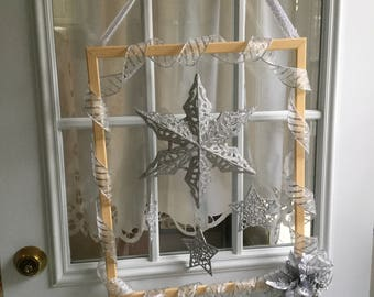 Silver Holiday Door Decoration
