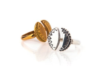 Sun & Moon Adjustable Ring