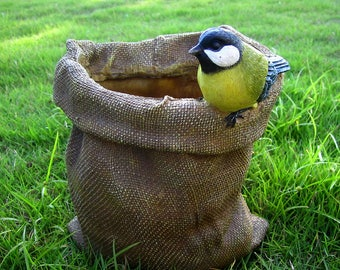 Bird on the hop-pocket Planter,Flower Planter ,Flower Pot Decoration,Outdoor/Indoor Planter Display LG0211