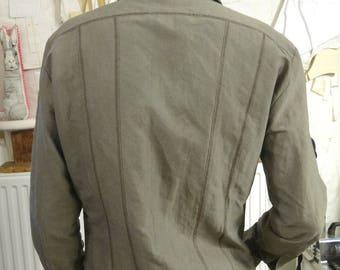 MEN long sleeve shirt contrasting cuts