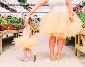 Mother and Daughter tutu set, Tutu set, Mother and Daughter Matching set, Plus size Tutu, Customizing Tutu, Photo shoot tutu set, Sewn Tutu