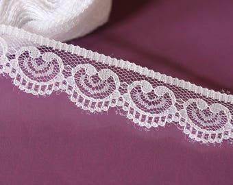 Beautiful fine lace Ribbon hearts pattern