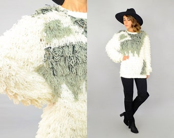 80's Shaggy Loop Knit Sweater