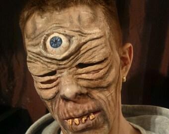 One eyed monster. Cyclops. latex prosthetic