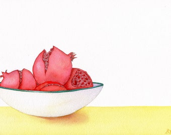 Pomegranates - Fine Art Print of an Original Watercolour Painting