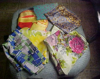 Vintage Silk and Rayon Scarves Lot of 6  #3017