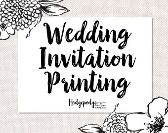 5x7 Wedding Invitation Suite Printing