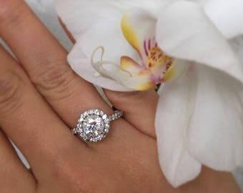1.5 Carat Diamond Ring , White Gold Diamond Engagement Ring, 1.5 Carat Diamond, Diamond Ring, Engagement Ring,Anniversary Ring,Free Shipping