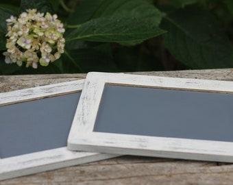 Rustic Wedding Chalkboard Signs Or Favor, Menu Message Board, Photo Prop, Custom Color, Set Of Two, 4 X 6