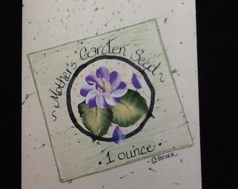 Seed Packet Greeting Card