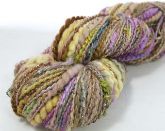 Gypsy Sunrise - Handspun - Thick and Thin - Spiral Ply - Art Yarn - 2 Ply - 170 yds