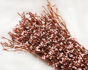 50pcs Light Pink Pip Berries stems Branch Vine,DIY supplies,Craft materials,wedding crown,head wreath,pipe decorations